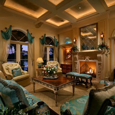 Mediterranean Living Room by Harwick Homes