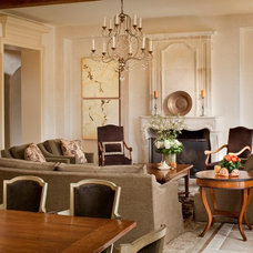 Mediterranean Living Room by Andrea Bartholick Pace Interior Design