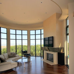 contemporary living room by RJ Dailey Construction Co.