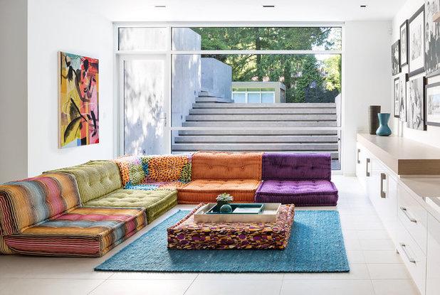 Contemporary Living Room By Precisionwerkz Inc
