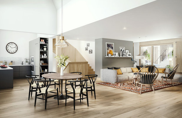 Transitional Living Room by Purcell