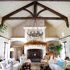Mediterranean Living Room by Fusch Architects, Inc.