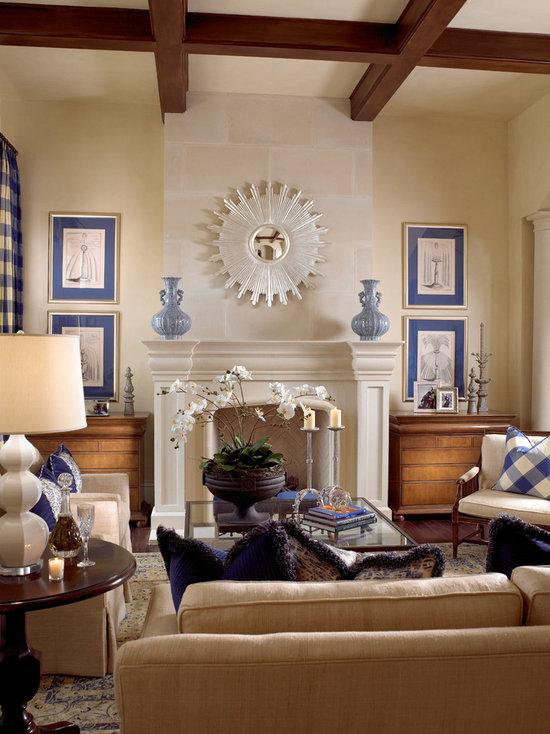 blue and cream living room design ideas, remodels & photos | houzz