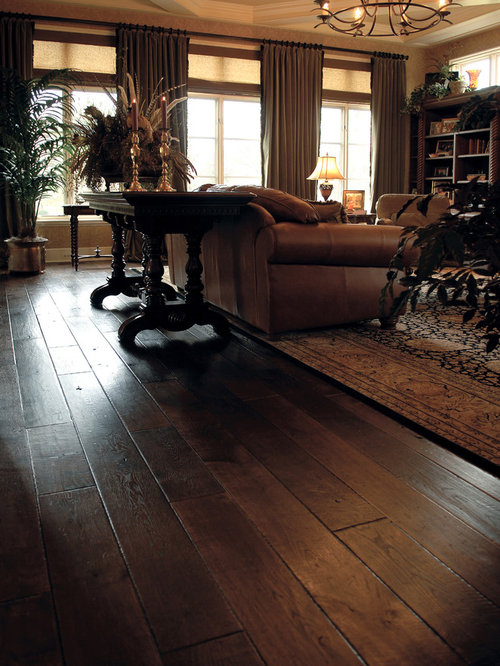 Hardwood floor ideas home design ideas pictures remodel for Living room floor decor