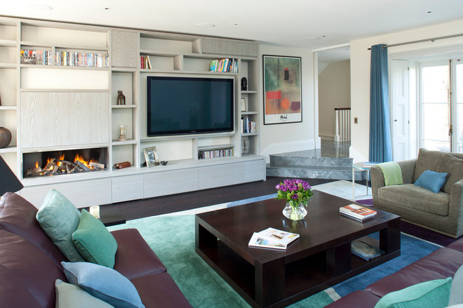 Contemporary Family Room by Greenleaf Lighting Ltd