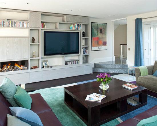 modern tv wall units | houzz