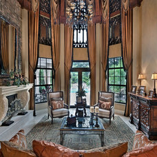 Mediterranean Family Room by KDS Interiors, Inc.