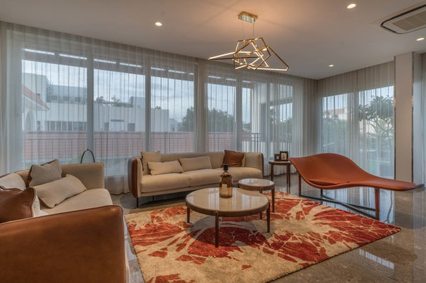 Contemporary Living Room by Ricken Desai Photography