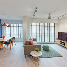 8 Cool and Colourfully Scandi Spaces in HDB Flats