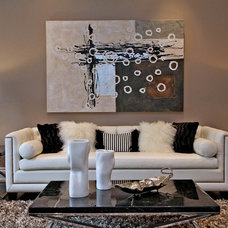 Contemporary Living Room by RT Designs (Roula Thalassinos Designs Inc.)