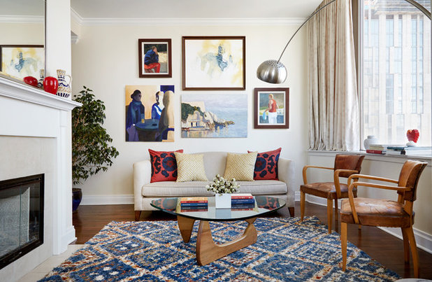 Transitional Living Room by Mary-Lynn Ring Design, LLC