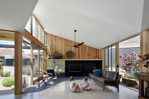 Contemporary Living Room by Brickworks Building Products
