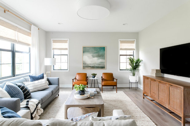 Beach Style Living Room by The Habitat Collective