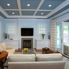 Contemporary Living Room by Cabin John Builders