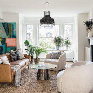 Klassisches Wohnzimmer in Boston