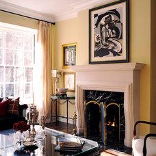 Traditional Living Room by Michael Menn Ltd.