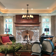 traditional living room by Buechel Stone Corp