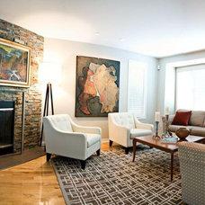Contemporary Living Room by Monique Castonguay Design