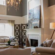 Transitional Living Room by Signature Homes