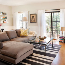 Transitional Living Room by Caitlin & Caitlin Design Co.