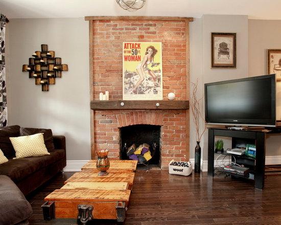 brick fireplace decorating ideas | houzz