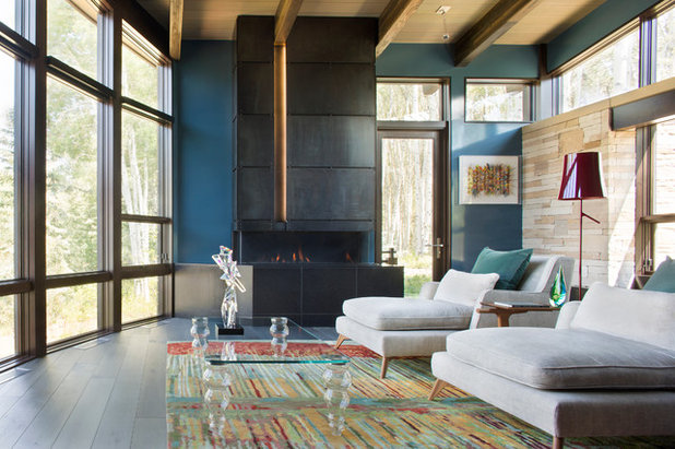 Contemporary Living Room by RKD Architects, Inc