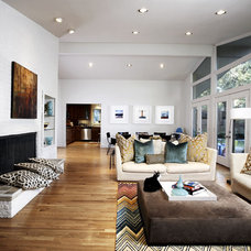 Contemporary Living Room by Carolina V. Gentry, RID