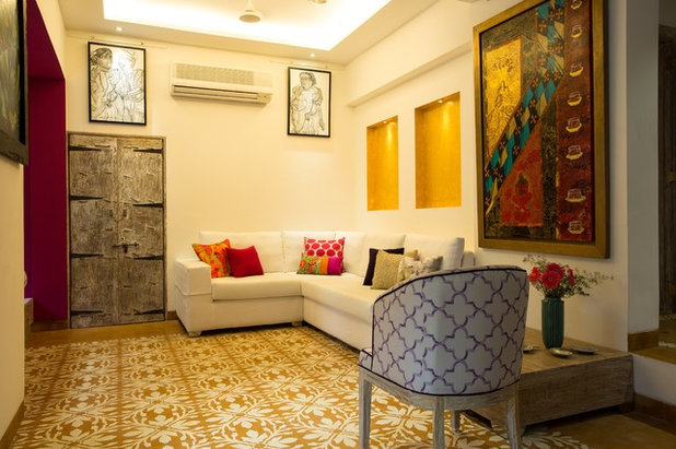 Eclectic Living Room by Shabnam Gupta