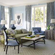 Traditional Living Room by Mendelson Group