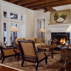 traditional living room by Cooper Johnson Smith Architects and Town Planners