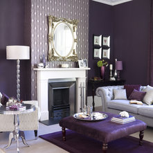 Grey, Pink and Purple Living Room