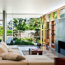 Contemporary Living Room by MW|Works Architecture+Design