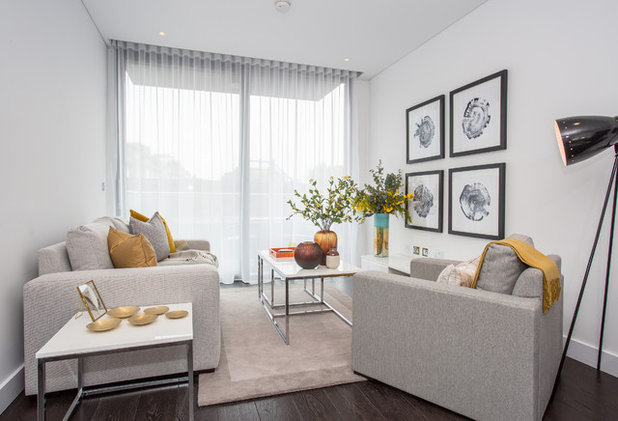 Transitional Living Room by Ed Kingsford Photography