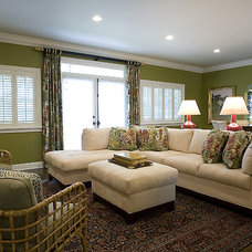 Tropical Living Room by Troy Spurlin Interiors