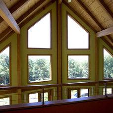 Eclectic Living Room by Habitat Post & Beam, Inc.