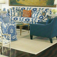 Traditional Living Room by Peggy Hart Home