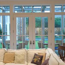 Traditional Living Room by Quantum Windows & Doors, Inc.
