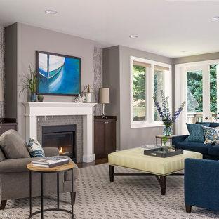 Blue Grey Walls Living Room Ideas & Photos | Houzz