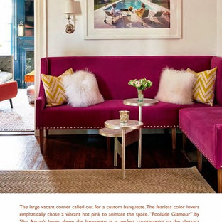 75 Beautiful Pink Living Room Pictures & Ideas - January, 2021 | Houzz