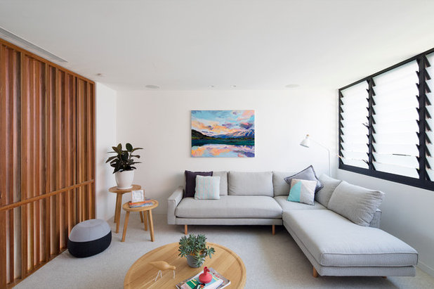 Contemporary Living Room by Watershed Design