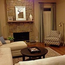 Traditional Living Room by Rachel Oliver Design, LLC