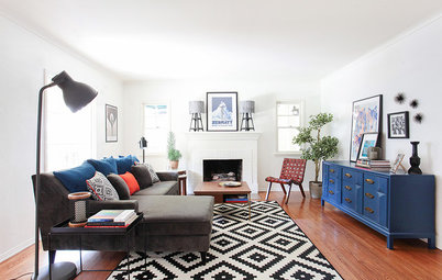Room of the Day: A Chic Living Room Makeover for a Temporary Space