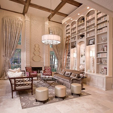 Transitional Living Room by Cindy Aplanalp-Yates & Chairma Design Group