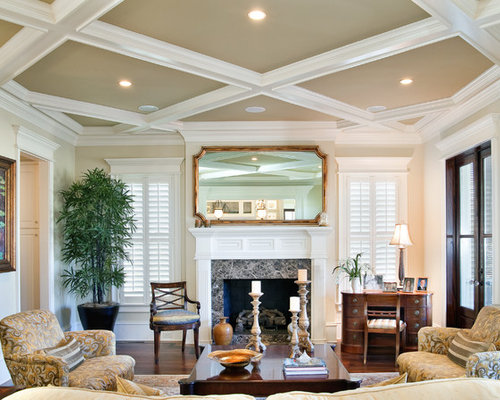 Painting rooms with cathedral ceilings houzz for Coffered cathedral ceiling