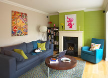 Love the art above the sofa.