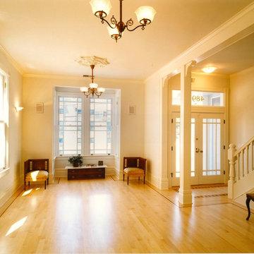 R-E-S-P-E-C-T entry and living room