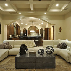 mediterranean living room by Design Visions of Austin