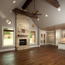 Traditional Living Room by Rader Building Company