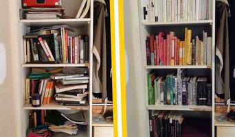 Rainbow bookshelf reorganise