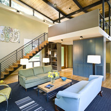 Contemporary Living Room by Robert M. Cain, Architect